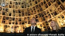 24.04.2017 Austrian Chancellor Christian Kern and his wife Eveline Steinberger-Kern visit Yad Vashem Holocaust memorial in Jerusalem, Monday, April 24, 2017. Israel is marking its annual Holocaust remembrance day in memory of the 6 million Jews systematically killed by Nazi Germany and its collaborators during World War II. (AP Photo/Dan Balilty) |