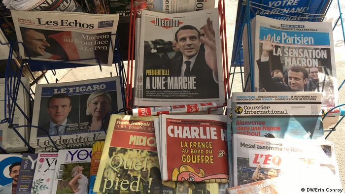 Frankreich Paris nach der erste Runde der Präsidentschaftswahl 2017 (DW/Erin Conroy)