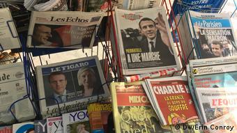 Frankreich Paris nach der erste Runde der Präsidentschaftswahl 2017