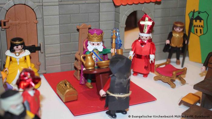A scene with Playmobil figures (Photo: Evangelischer Kirchenbezirk Mühlacker/M. Gutekunst )