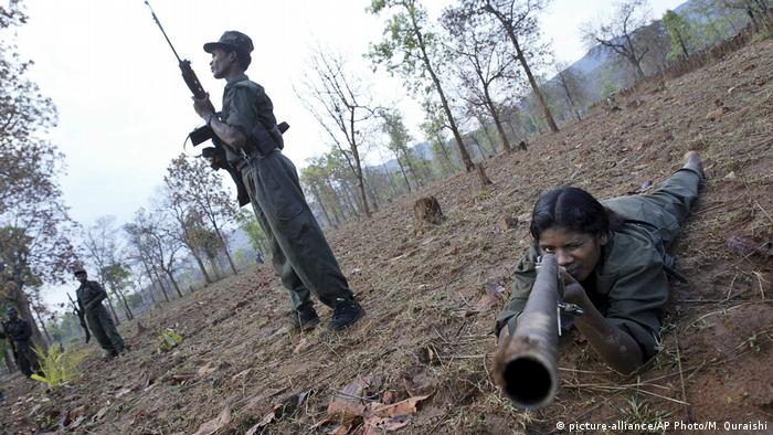 Armed Maoist rebels in India