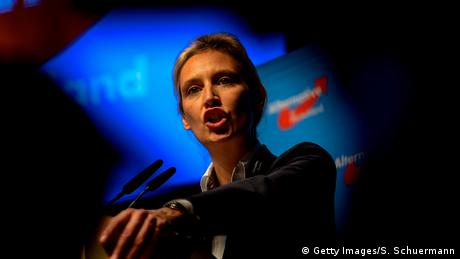 The AfD's Alice Weidel at a party event in Cologne (Getty Images/S. Schuermann)