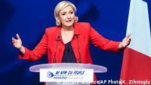 Frankreich Marine Le Pen in Paris