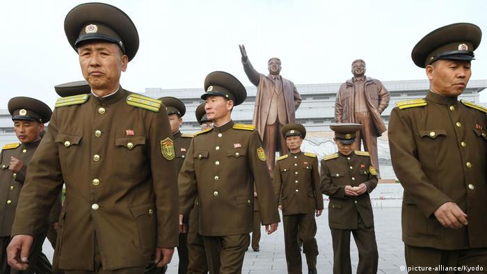 Nordkorea Jahrestag der Volksarmee (picture-alliance/Kyodo)