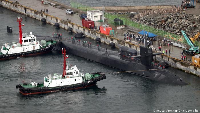 EE.UU. envío un submarino nuclear a la península de Corea para que se sume a las próximas maniobras con su portaaviones Carl Vinson, en lo que pretende ser una muestra de fuerza ante el desafío planteado por Pyongyang. (25.04.2017)