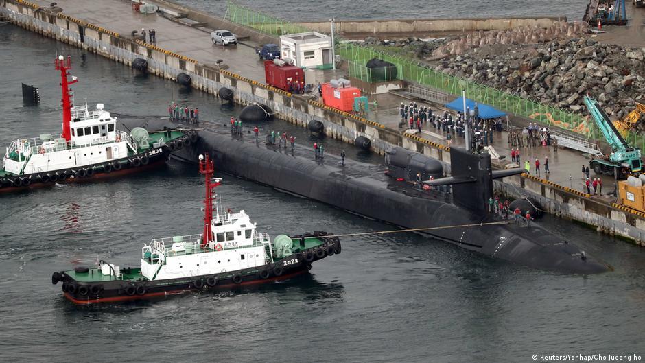 Атомска подморница на САД во јужнокорејско пристаниште