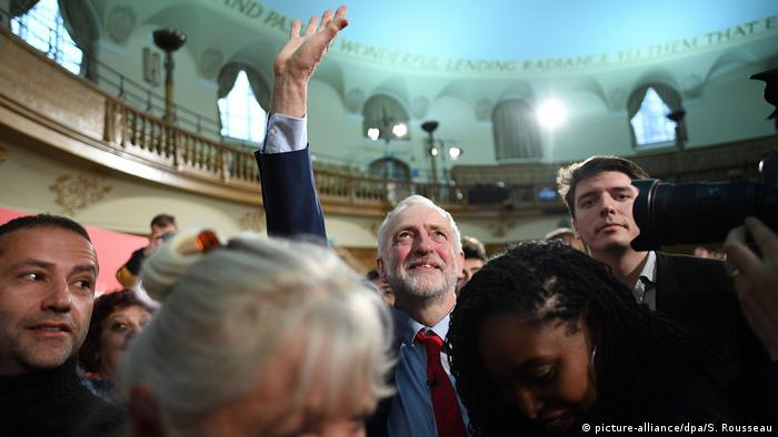 Labour leader Jeremy Corbyn at a campaign rally.