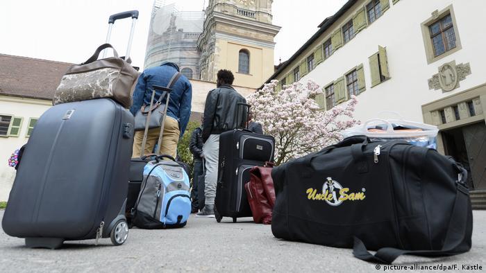 Deutschland Ankunft von Flüchtlingen
