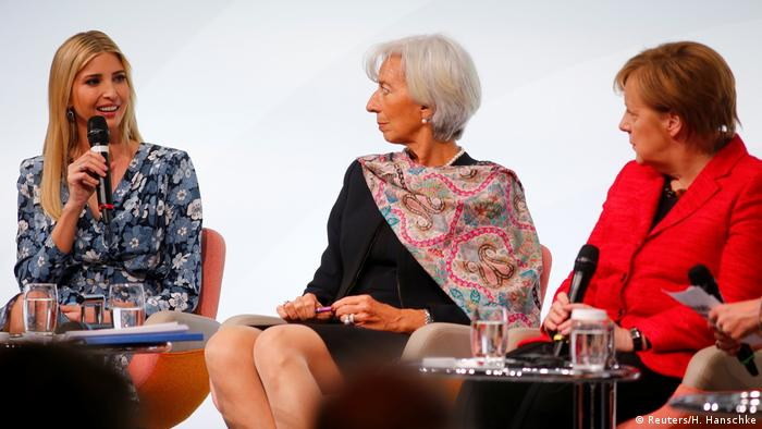 Іванка Трамп, Крістін Лагард та Анґела Меркель у Берліні
