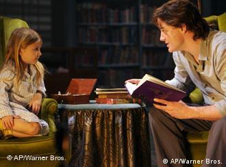 Brendan Fraser, right, and Eliza Bennett, left shot a scene for 'Inkheart'