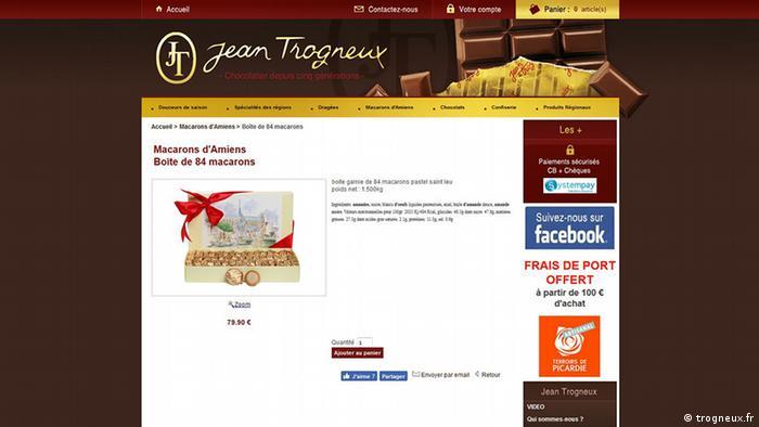 Sreenshot der Website trogneux.fr (trogneux.fr)