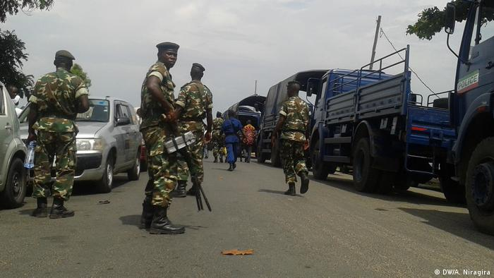 Troops on the streets of the Nyakabiga, in the Burundi capital Bujumbura