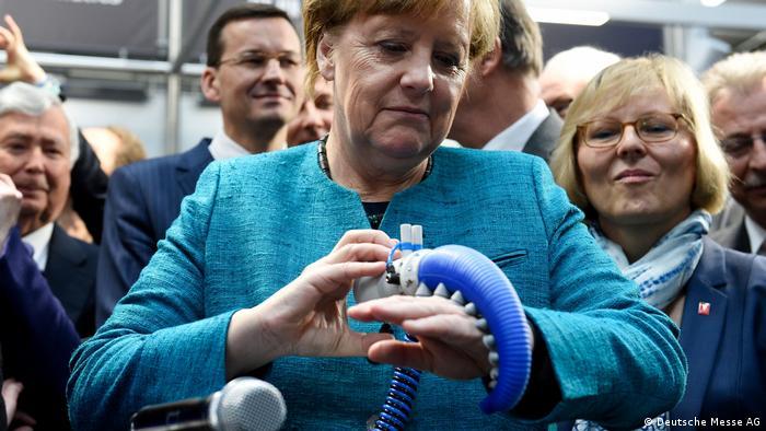 Hannover HMI Messe 2017 Angela Merkel (Deutsche Messe AG)