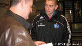 Zdravko Lipovac (l.) intervjuira Mladena Petrića