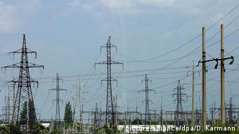 Линия электропередач вблизи Киева