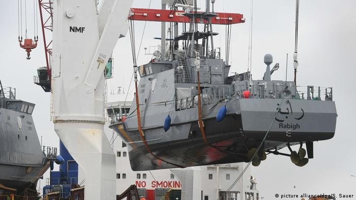German coast guard boat bound for Saudi Arabia