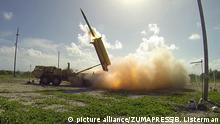 Apr 25, 2017 - (FILE PHOTO) - The U.S. military started moving the THAAD anti-missile defense system to a deployment site in South Korea on Wednesday PICTURED: Nov. 1, 2015 - A Terminal High Altitude Area Defense (THAAD) interceptor is launched from a THAAD battery located on Wake Island, during Flight Test Operational (FTO)-02 Event 2a, conducted. During the test, the THAAD system successfully intercepted two air-launched ballistic missile targets |