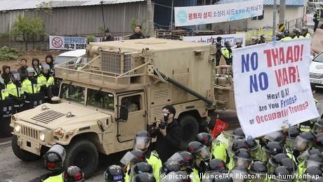 Südkorea THAAD Raketenabwehr (picture alliance/AP Photo/K. Jun-hum/Yonhap)