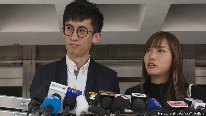 Hongkong Aktivisten Baggio Leung und Yau Wai-Ching (picture-alliance/dpa/A. Hofford)