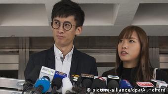 Hongkong Aktivisten Baggio Leung und Yau Wai-Ching