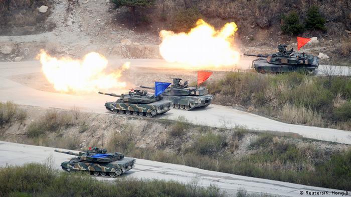 Südkorea Militärübungen bei Pocheon