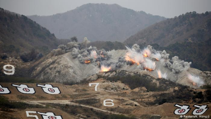 United States sets up missile defense in S. Korea as North shows power