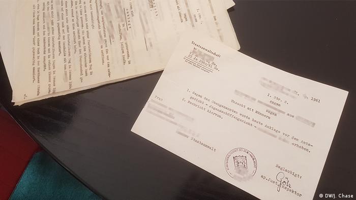 Justiz Deutschland, historische Unterlagen Anklage Verstoß gegen §175