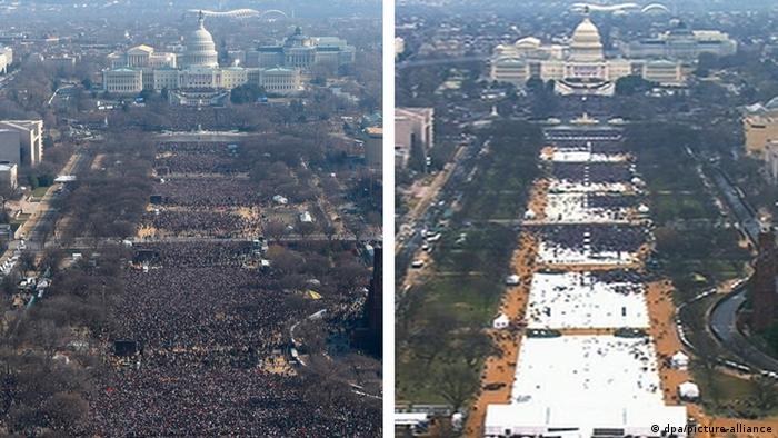 Bildkombo Amtseinführung Obama Trump (dpa/picture-alliance)