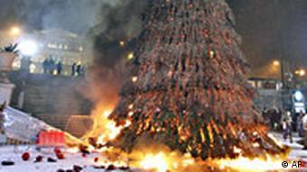 Božićni bor u plamenu