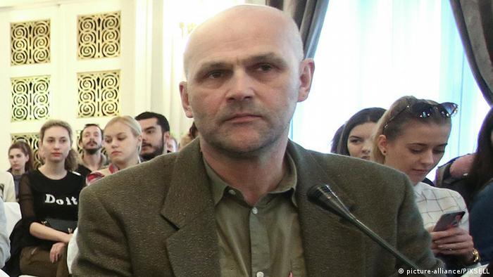 Kroatien Protest bei Videokonferenz zur Pressefreiheit in Zagreb (picture-alliance/PIXSELL)