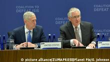 Rex Tillerson und James Mattis (picture alliance/ZUMAPRESS/Planet Pix/G. Johnson)