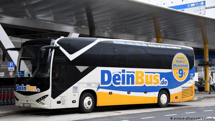 Автобус фирмы DeinBus в Кельне