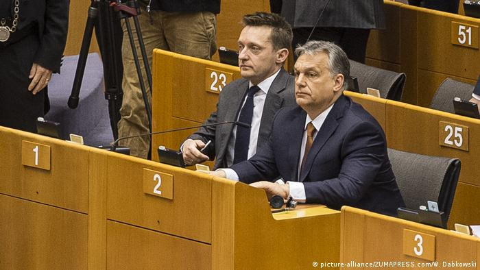Belgien Brüssel - Viktor Orban im EU Parlament