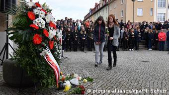 Траурная церемония в 15-ю годовщину трагедии в Эрфурте, 2017 год