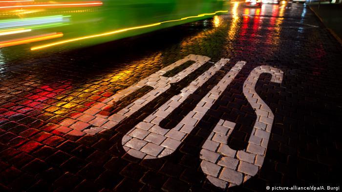 Автобусная остановка в Дрездене
