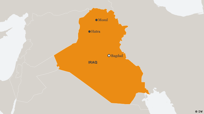 Map of Iraq (DW)