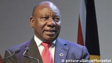 Südafrika Cyril Ramaphosa in Johannesburg (picture-alliance/Photoshot)