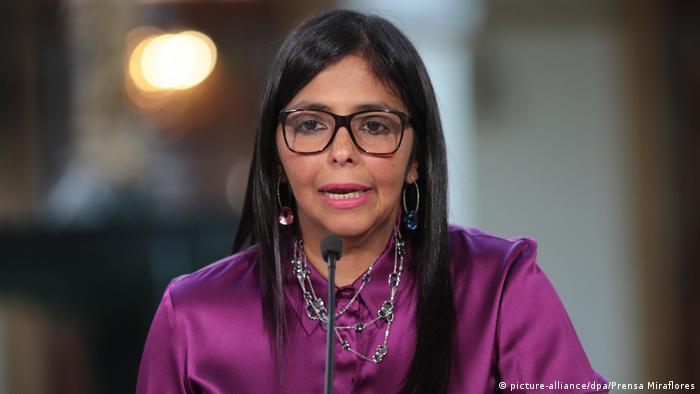 Venezuelas Außenministerin Delcy Rodriguez (picture-alliance/dpa/Prensa Miraflores)