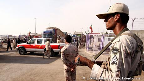 Iranian border guards at the Iran-Afghanistan border check point in Milak, south-eastern province of Sistan-Baluchestan, Iran