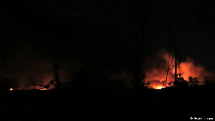 Syrien Archivbild Brand Damaskus Flughafen (Getty Images)