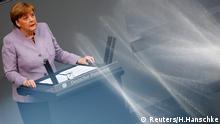 Kurs halten auch in trüberen europäischen Zeiten: Kanzlerin Angela Merkel bei ihrer Regierungserklärung im Bundestag