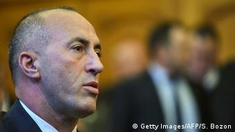 Kosovo's former Prime Minister Ramush Haradinaj freigesprochen (Getty Images/AFP/S. Bozon)