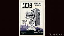 Bild aus der Ausstellung COMICS! MANGAS! GRAPHIC NOVELS! in der Bundeskunsthalle Bonn (DC Comics)