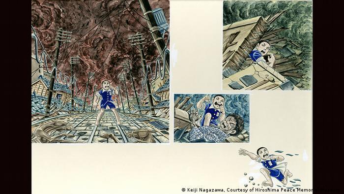 Exposición sobre CÓMICS, MANGA y NOVELAS GRÁFICAS en el Bundeskunsthalle de Bonn (Keiji Nagazawa, Courtesy of Hiroshima Peace Memorial Museum )