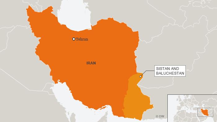 Karte Iran mit der Provinz Sistan und Baluchestan