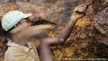Mushamua Mweze works in the Zola Zola mine near Nzibira in the east-Congo province of South Kivu.