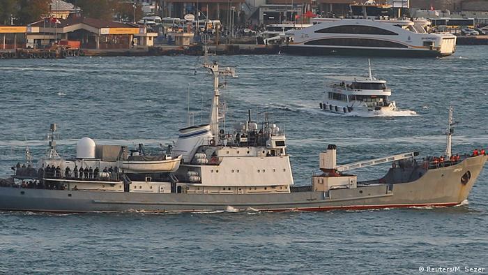 Russisches Kriegsschiff sinkt nach Kollision