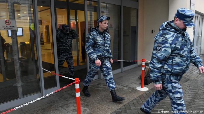 Russian Police Raids Opposition Office Protesting against President Vladimir Putin