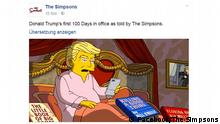 Facebook Simpsons-Clip zu 100 Tage Trump, Screenshot