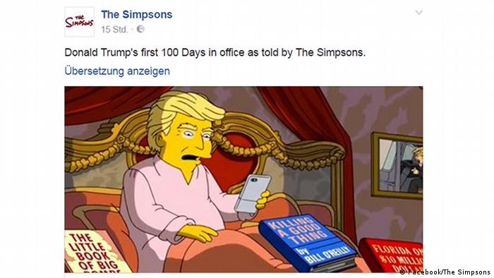 Facebook Simpsons-Clip zu 100 Tage Trump (Facebook/The Simpsons)